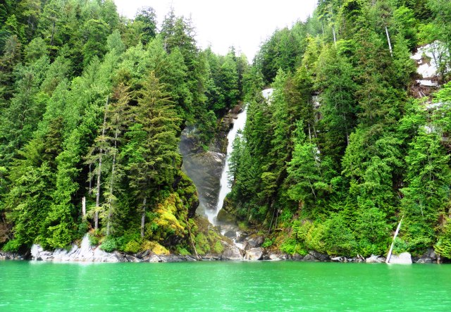 Knight Inlet waterfall British Columbia - photo zoedawes
