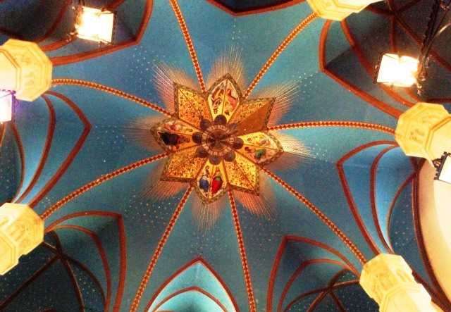 Marienburg Castle entrance hall ceiling - zoedawes