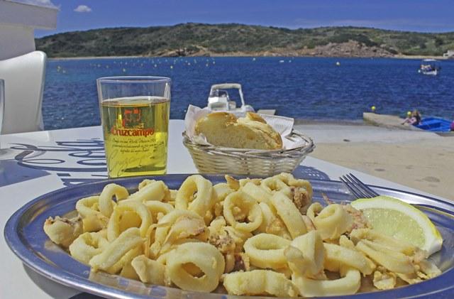 Meal by the sea in Es Grau Menorca - image zoedawes