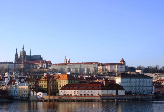 Prague Castle and Vltava River - zoedawes