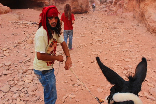 William Shakespeare and Bedouin guide Ram Petra Jordan - photo zoedawes