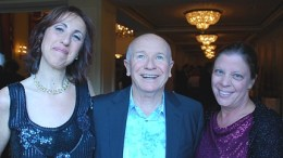 Left to Right: Fiddlehead Theatre Company artistic director Meg Fofonoff, playwright Terrence McNally, and Carol Rose, executive director of the American Civil Liberties Union of Massachusetts.  Photo by: Chuck Colbert