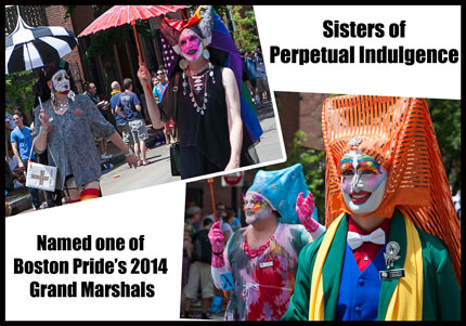 Some of the Sisters of Perpetual Indulgence -- nominated as one of  Boston Pride Parade 2014 Grand Marshals  Photo: TRT Archives
