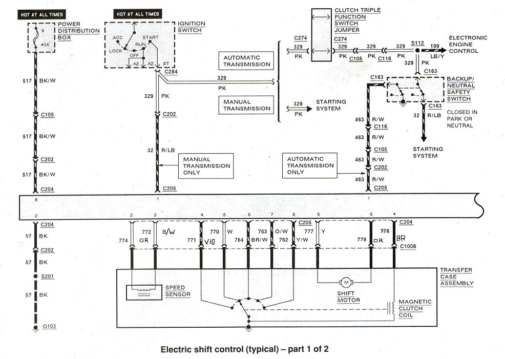 1999 ford ranger transfer case wiring diagram