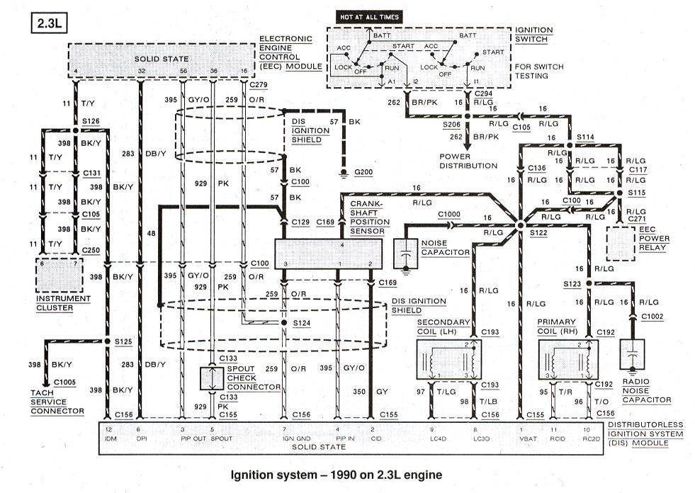 1989 ford ranger ignition wiring diagram