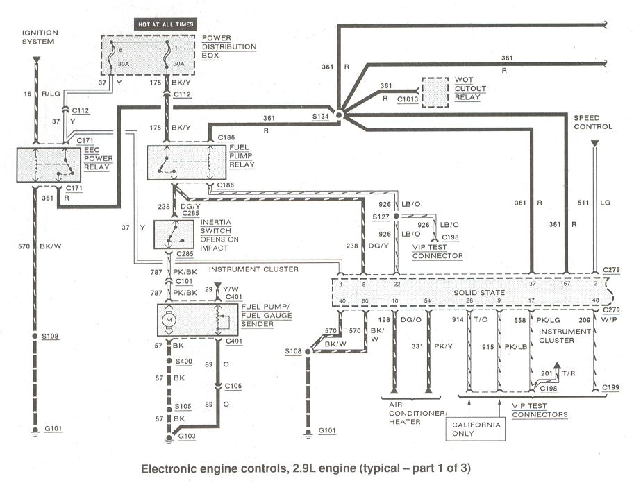 93 ford e 150 relays wiring diagram