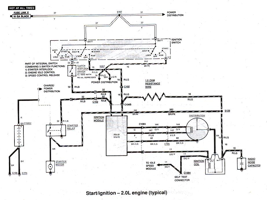 Fuse Diagram On A 86 Ford Ranger 2 9 Fuel Injected Wiring Diagram