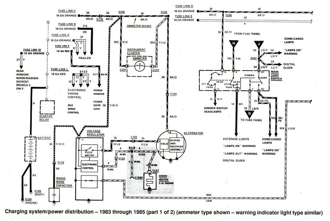 1990 bronco wiring diagram charging system