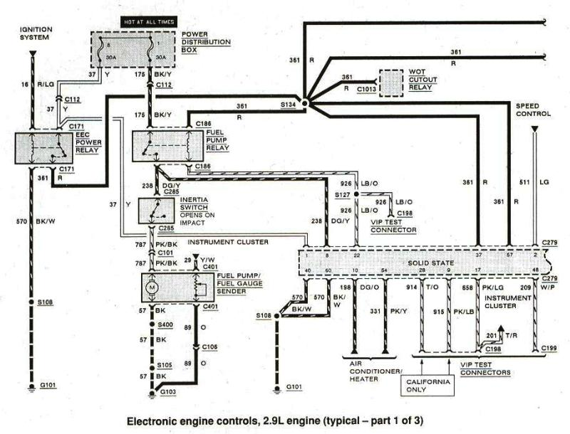 1990 ford ranger fuel gauge and fuel sending unit wiring diagram