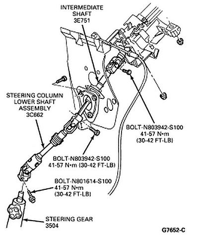 1994 ford ranger steering column diagram