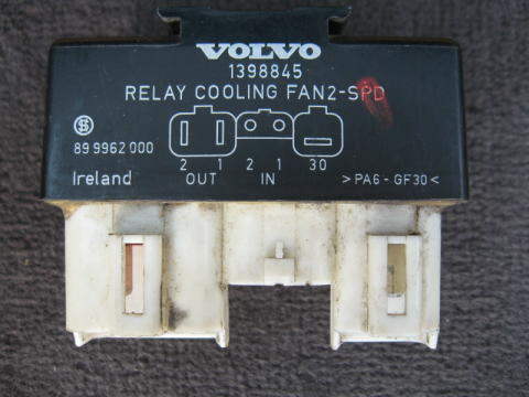 Fusible link power wire to engine cooling fan burned out - Volvo