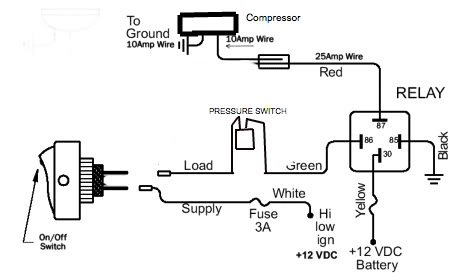 Air Compressor 4 Wire Switch Diagram Wiring Diagram