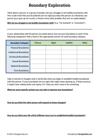 Codependency Therapy Worksheets - Kidz Activities