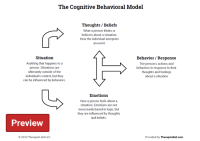 Cognitive Behavioral Therapy Worksheets For Depression ...