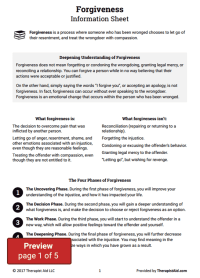 Forgiveness Worksheet - resultinfos
