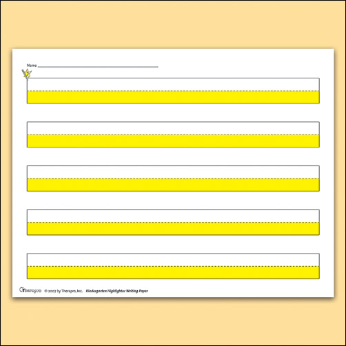 Highlighter Paper (Kindergarten Writing)