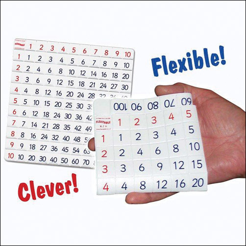 Flexitable - A Folding ADDITION and SUBTRACTION Table with Teaching CD - Subtraction Table