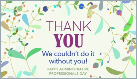 The Therapy Center Happy Administrative Professionals Day!