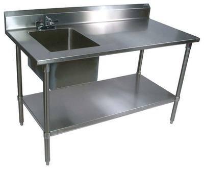 John Boos Ept6r53072sskl Work Table Prep Sink 72inw X