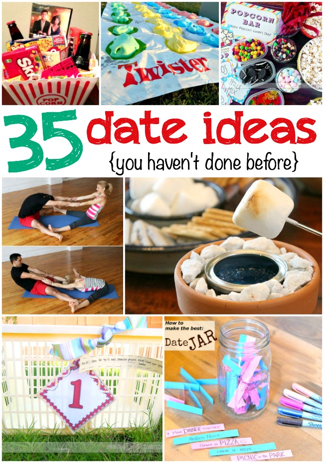 35 Date Ideas for Date Night - The Realistic Mama - at home date ideas
