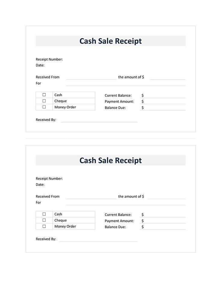 Sales Receipt Template - sale recipt