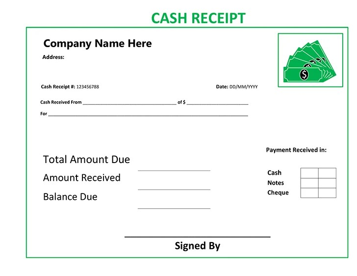 Free Free Cash Receipt Template - Cash Recepit