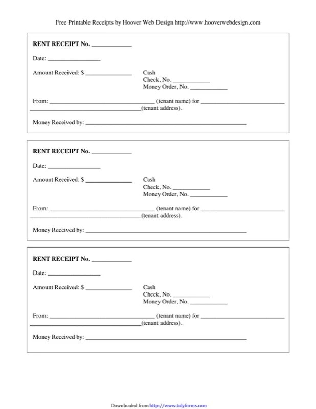 Free Landlord Rent Receipt Template