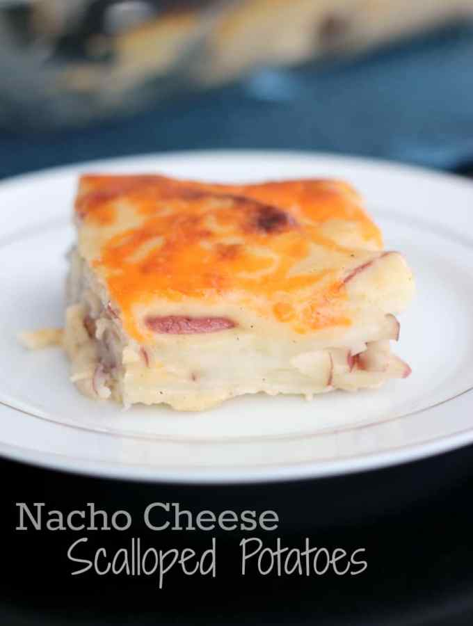 Nacho Cheese Scalloped Potatoes   www.thereciperebel.com