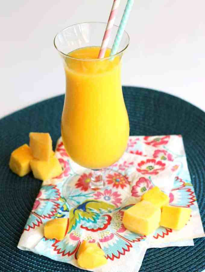 Mango Slush | www.thereciperebel.com