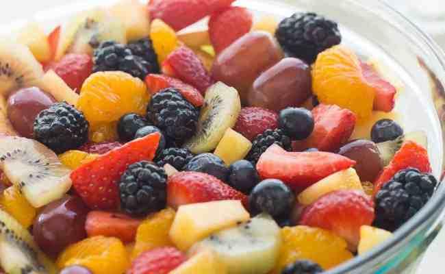 Video Creamy Fruit Salad Recipe Vanilla Dressing
