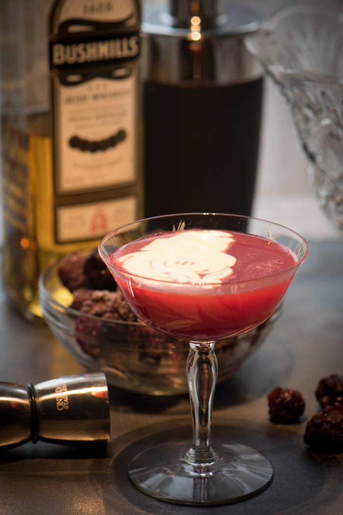 Made with Irish Whiskey, lemons, blackberries and a decadent honey cream topping - you're going to love it! | The Recipe Wench