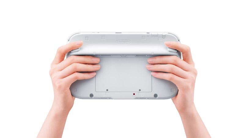 Wii U Controller Backside under