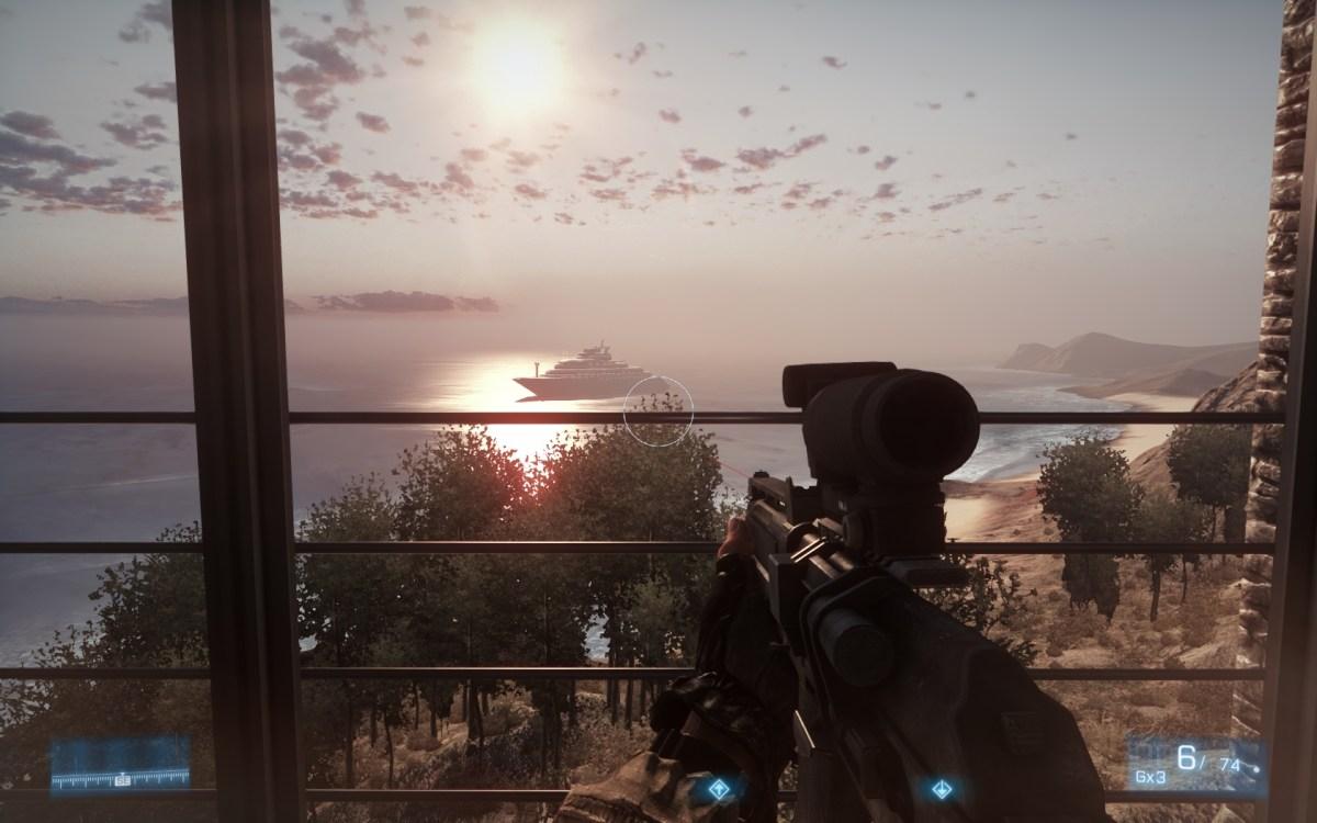 Battlefield 3 Screenshot Wallpaper villa boat