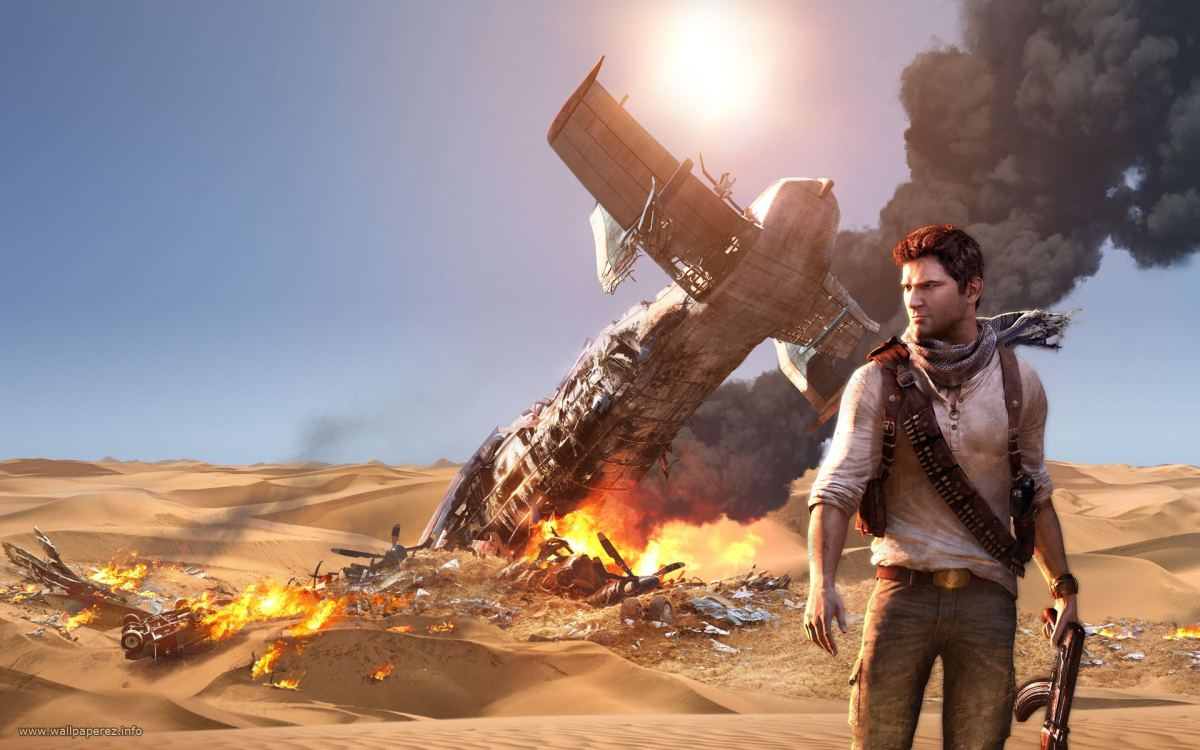 Uncharted 3 Screenshot Wallpaper Plane Crash