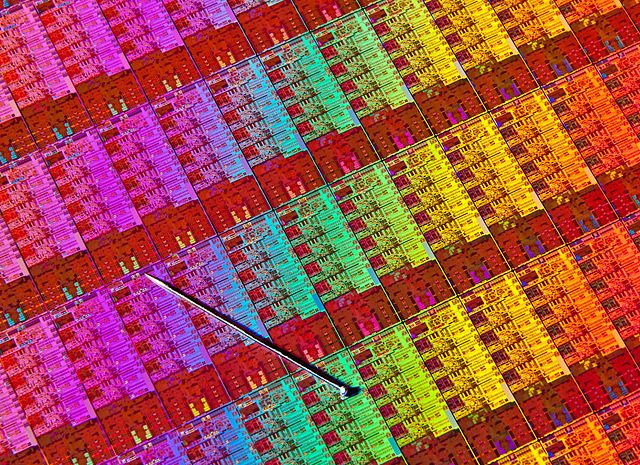 Haswell Chip Wafer