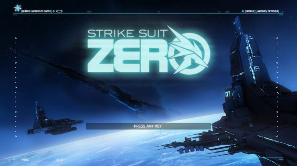 Strike Suit Zero Screenshot Wallpaper Title Screen