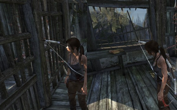 Tomb Raider 2013 Screenshot Wallpaper Glitch