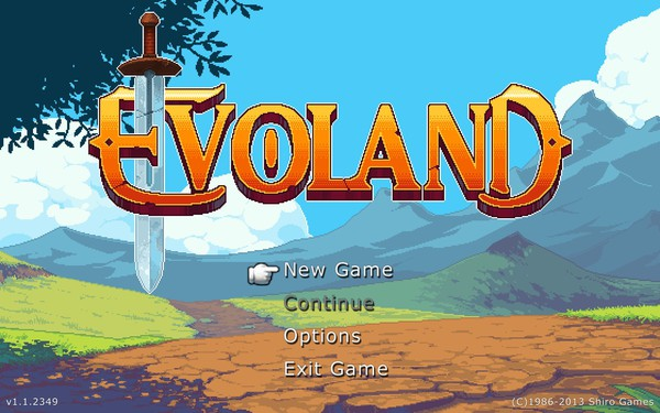 Evoland Screenshot Wallpaper Title Screen