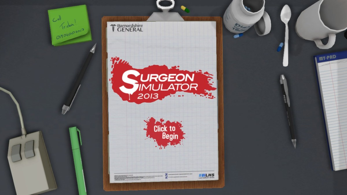 Surgeon Simulator 2013 Screenshot Wallpaper Title Screen