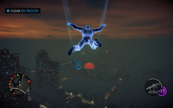 Saints Row IV Screenshot Wallpaper Gliding