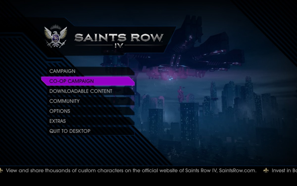Saints Row IV Screenshot Wallpaper Title Screen