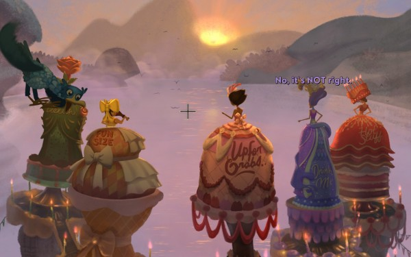 Broken Age Review Screenshot Wallpaper Maiden Feast