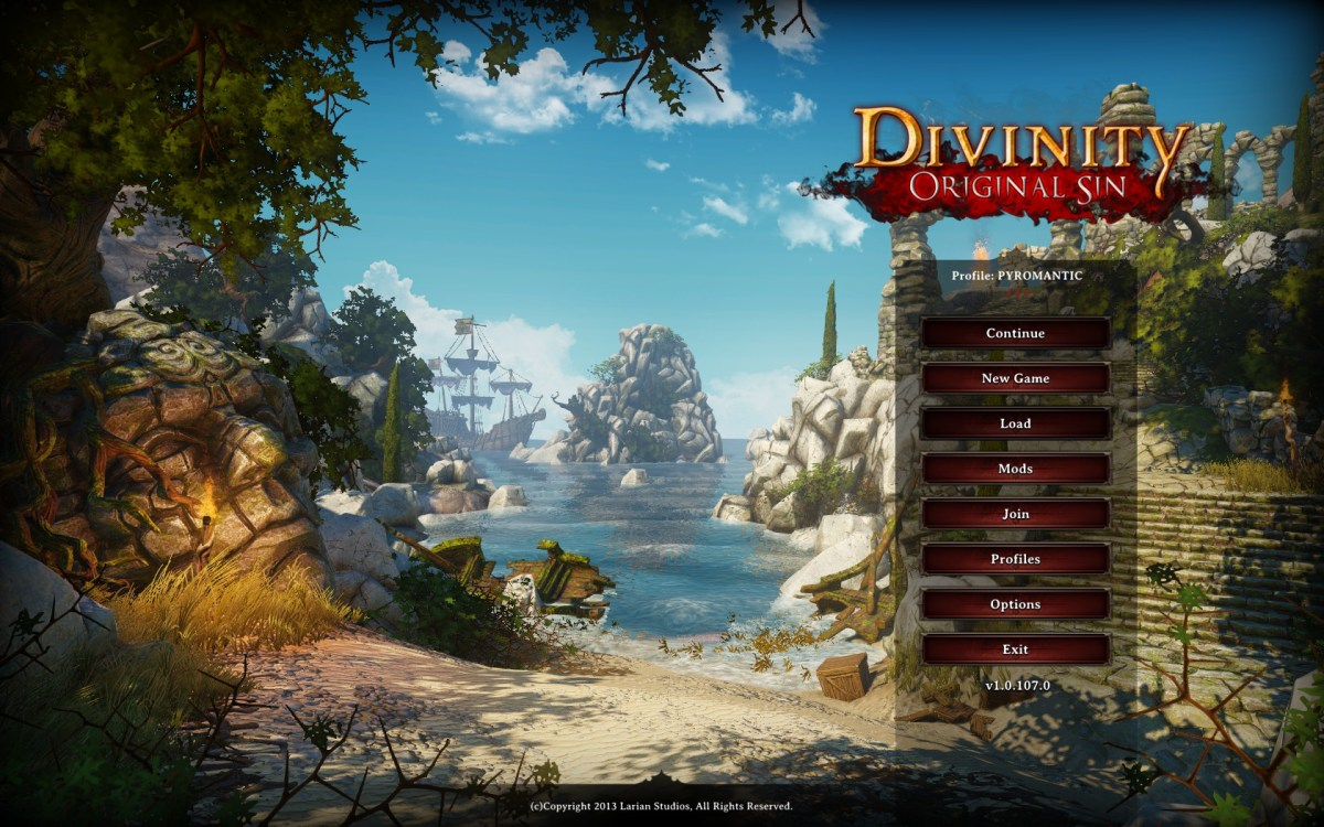 Divinity Original Sin Review Screenshot Wallpaper Title Screen