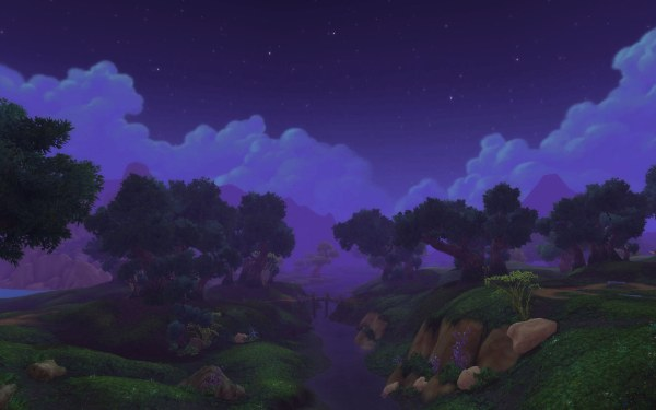 World of Warcraft Warlords of Draenro Review Screenshot Wallpaper Nagrand at Night