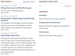 issues currently under the agenda heading on the main page