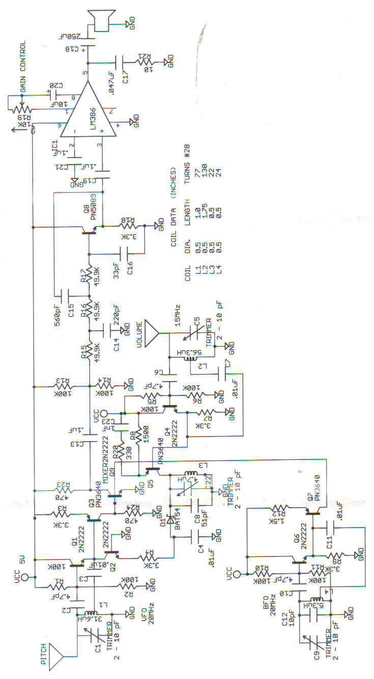 theremin schematic