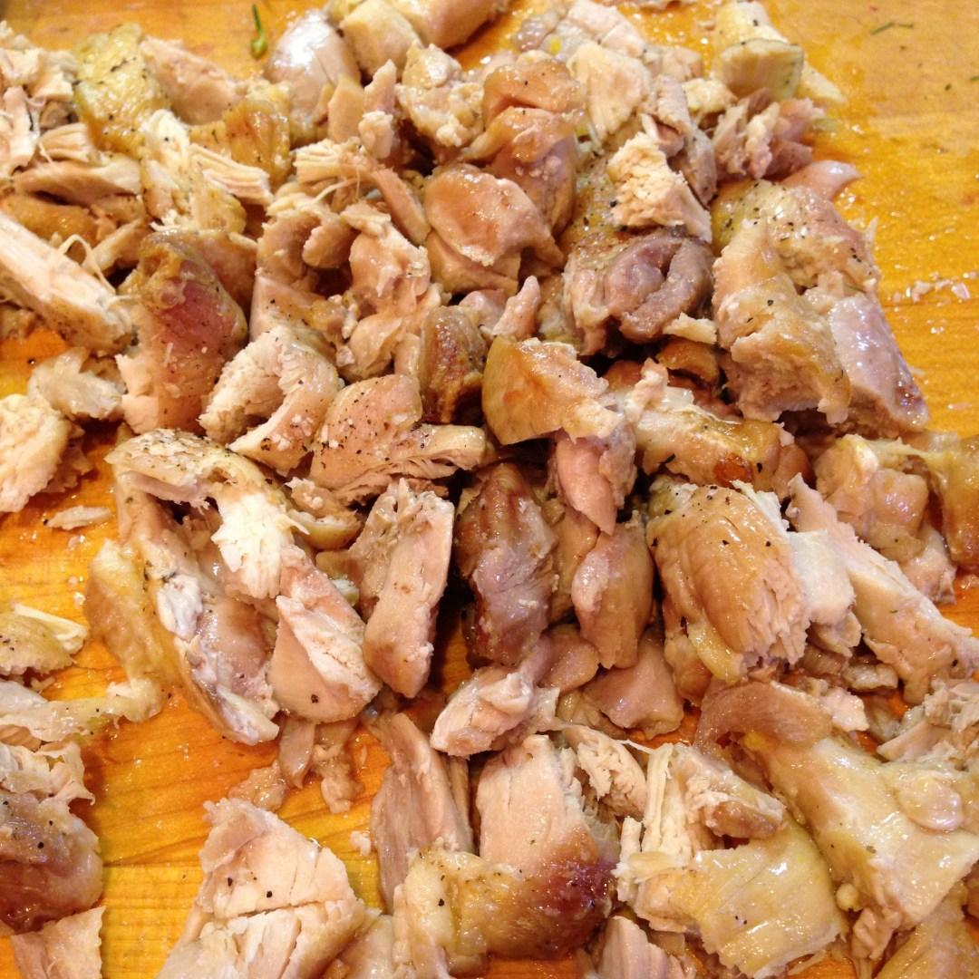 roast chicken chopped