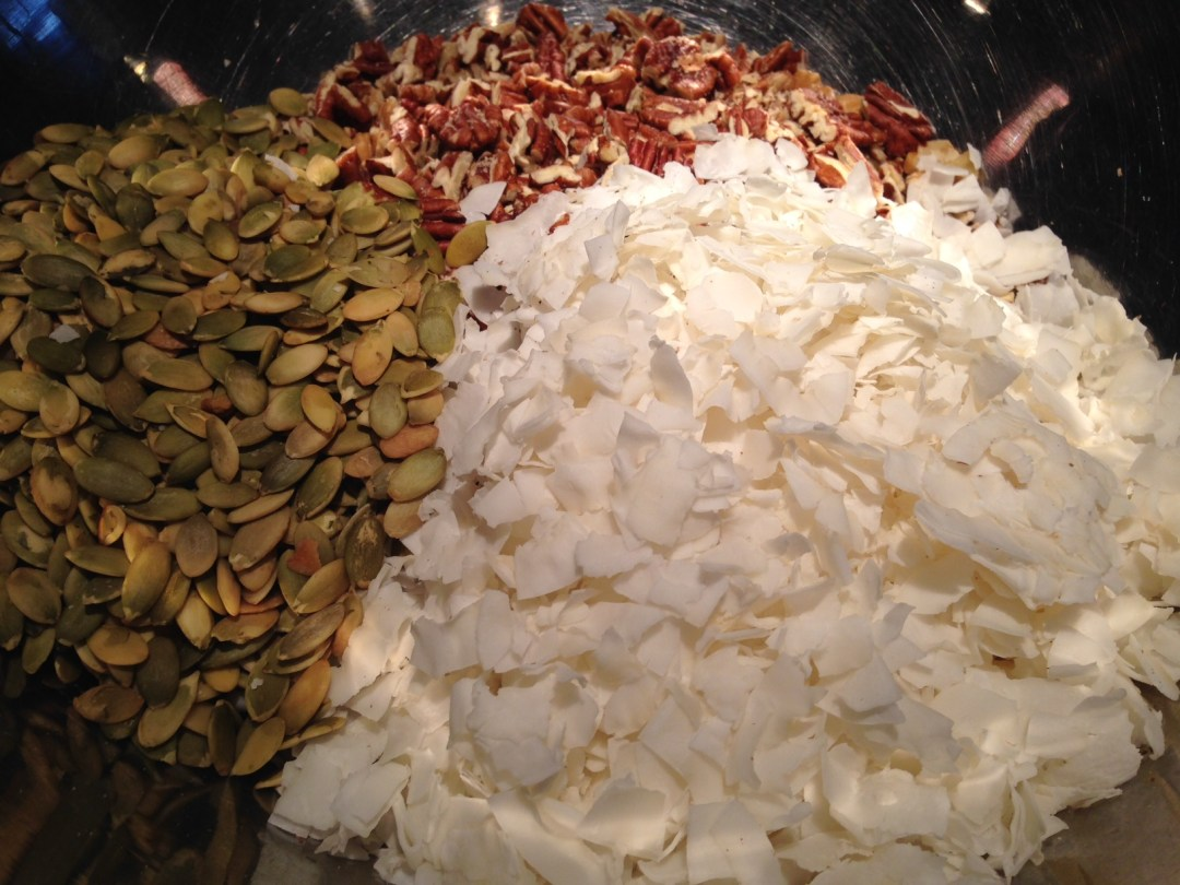 coconut flakes seeds nuts
