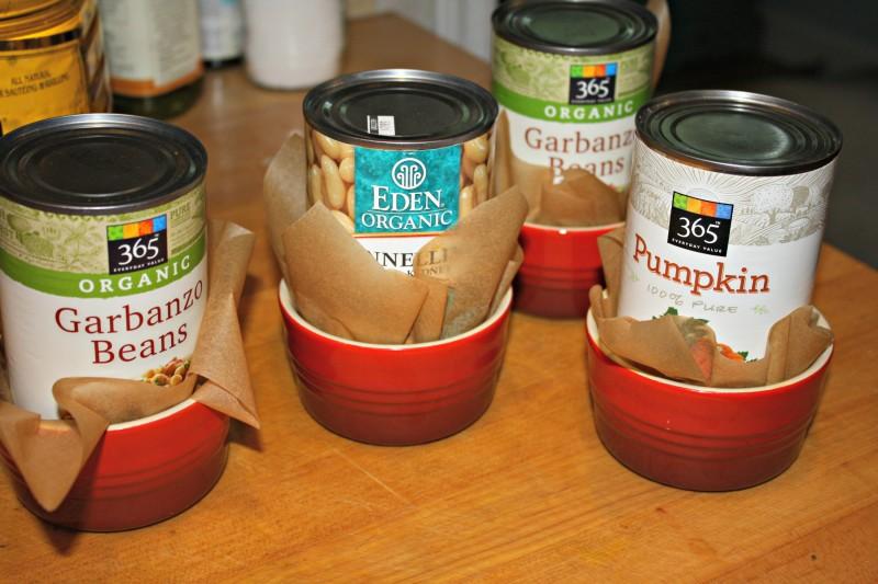 cans in ramekins for sweet potato buns