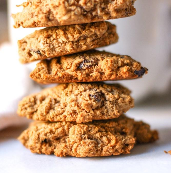 Grain-Free Oatmeal Raisin Cookies